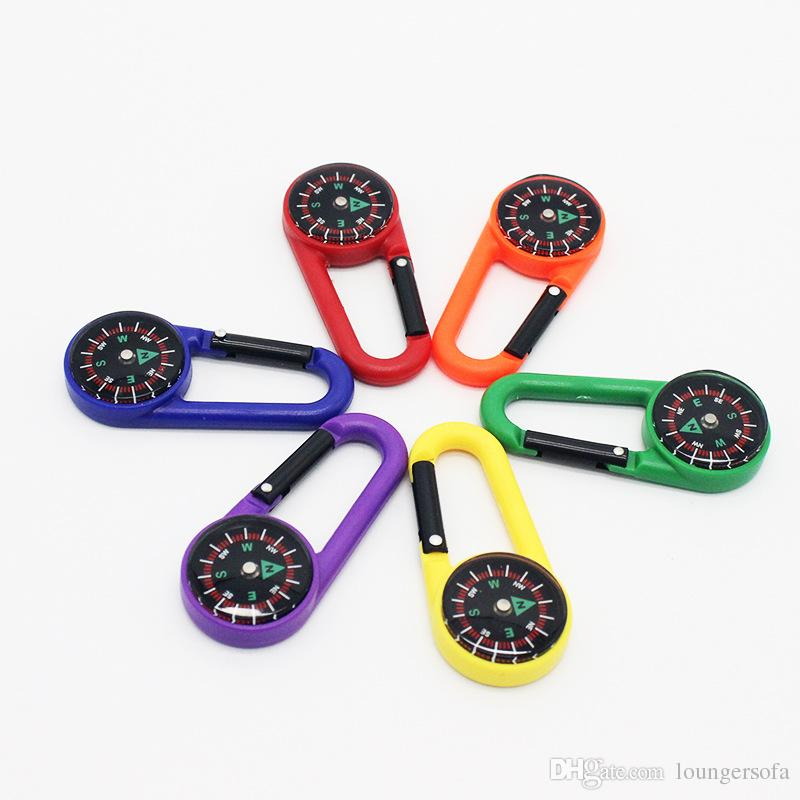 Mini Sıvı Pusula Taşıması Kolay Plastik Cep Dağcılık Toka Çok Renkler Çanta Karabina Fabrika Doğrudan Satış 1 hr