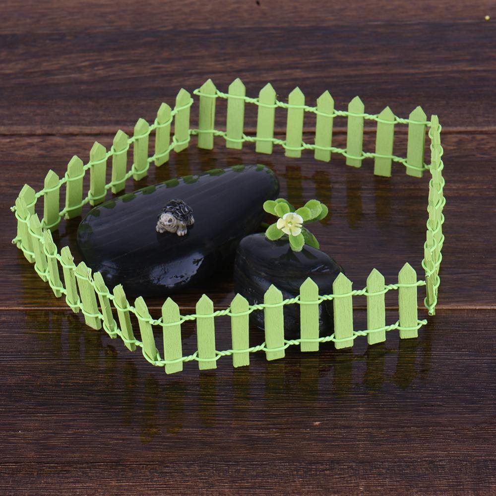 5 шт. / лот миниатюрный маленький деревянный забор Diy Фея сад микро кукольный завод горшок декор бонсай террариум орнамент Diy миниатюрный сад