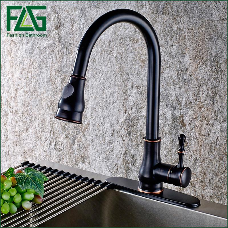 2019 2016 Pull Out Kitchen Faucet, Oil Rubbed Bronze Pull Down Sink Faucet,  Black Kitchen Tap Torneira Cozinha Mixer Tap From Hongheyu, $128.9 | ...