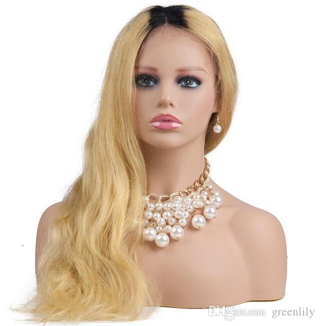 Włókno szklane Kobiet Realistyczne Afro-American Mannequin Head Bust Bread Hair Professional Practice Hat Scarf