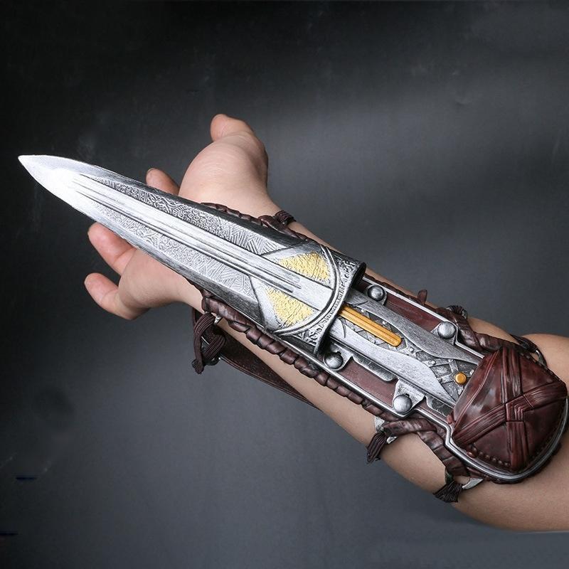 Assassins Creed 1: 1 Hidden Plastic Blade Wristlet Sleeve Schwerter Gauntlet Cospaly Spielzeug 30 CM