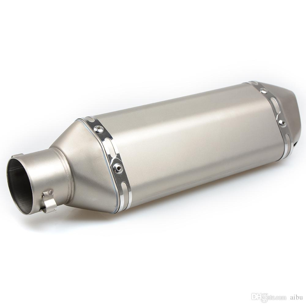 Wetoto Universal 1.5-2 Inlet Motorcycles Scooters Exhaust Muffler Pipe with Removable DB Killer fit for Z750 CBR125 CB400 Z800 ZX-6R ZX-10R GSXR