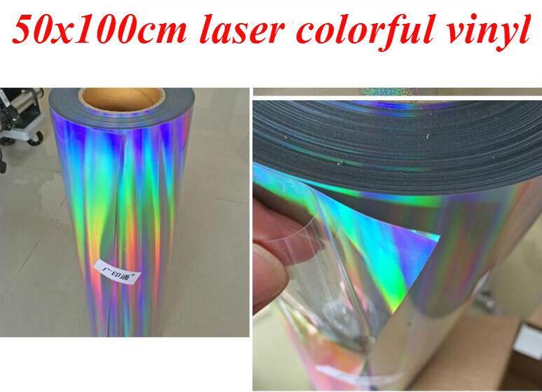 photo regarding Laser Printable Heat Transfer Vinyl named 2019 1 Sheet 20x40/50cmx100cm Hologram Rainbow Laser