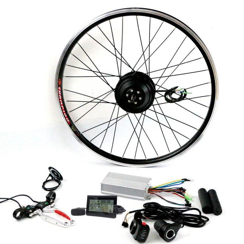 """Electric Bicycle Conversion Kit 36V 350W Hub Motor For 20"""" 24"""" 26"""" 28"""" Ebike kit rear Wheel Motors With LCD"""