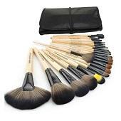 Профессиональный 24 шт набор кистей для макияжа Макияж туалетные комплект Шерсть Марка Макияж набор кистей чехол