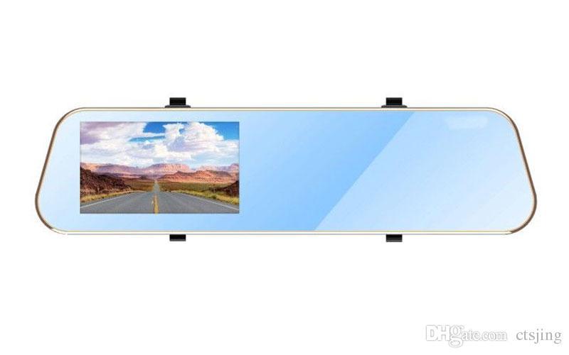 Uzatma Savaşçı, 4.3 inç Araba DVR Dikiz Aynası Monitör DVD / VCR / Araba Ters Kamera + Dikiz Plaka Araba Arka Yedekleme