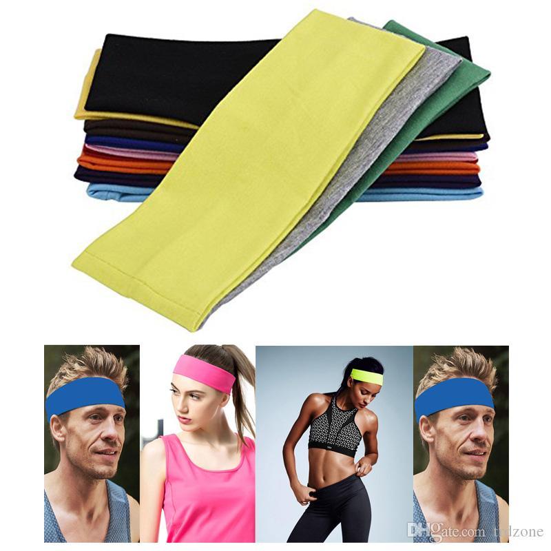 Women Sweatband Headband Sport Hair Band Elastic Wide Blend Cotton Yoga Exercise