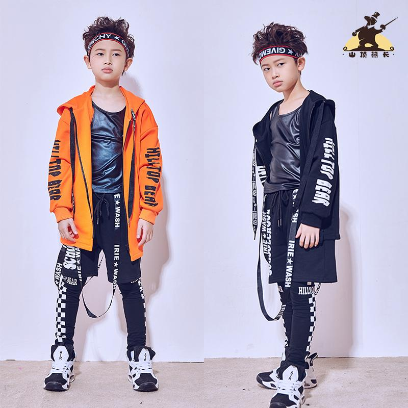 buy online bab76 dffb9 2019 Hip Hop Dance Costume Kids Boys Jazz Dance Jacket Long Sleeved Sequins  Coat Street Clothing Performance Wear DQI343 From Beenni, $43.62 | ...