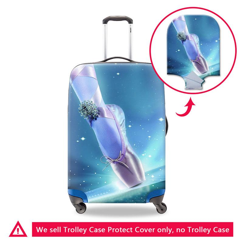 Cute Ballet Toe Shoe Suitcase Case Cover Elastic Luggage Protective Elastic Dustproof Cover Personalized Travel Accessories for 18-30 Inch
