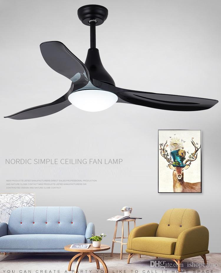 Four seasons frequency conversion fan pendant lamp 48 inch Led remote control ceiling fans living room bedroom fan chandelier