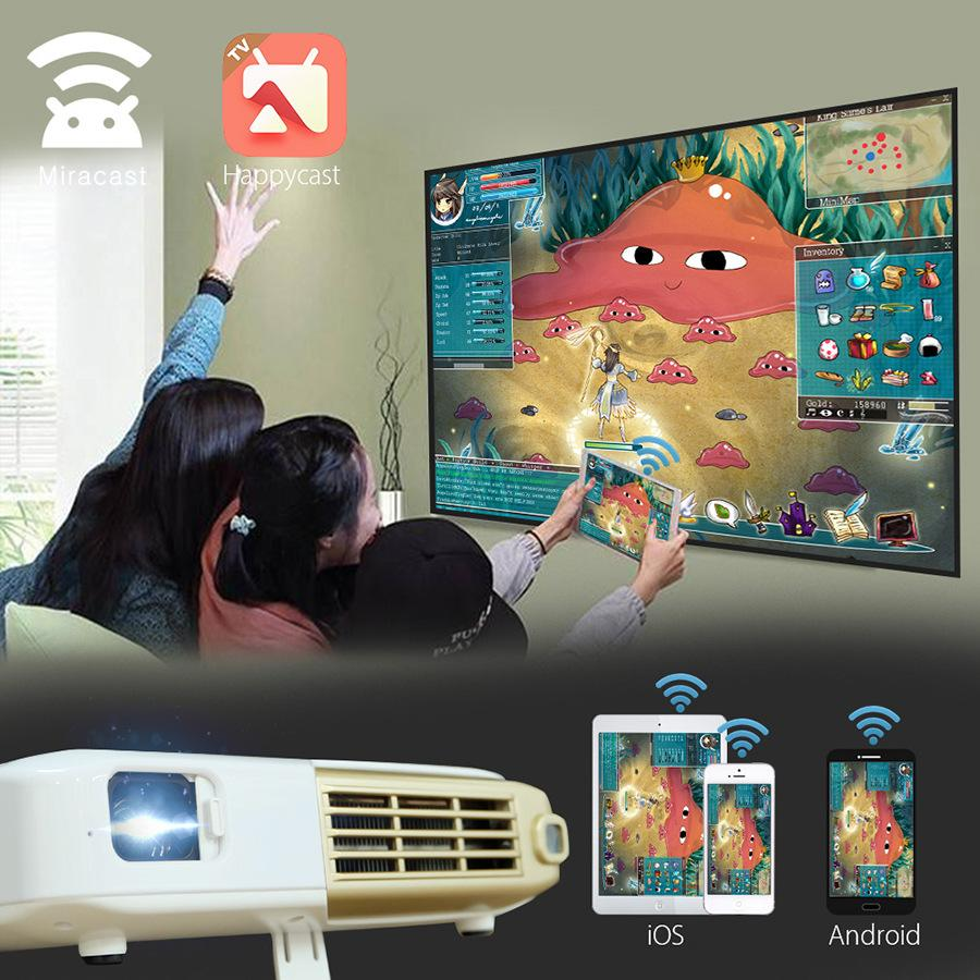 2019 NIERBO 4K Interactive Portable Projector Full 3D School Android Wifi  Office Education With 15000mah Battery 500 ANSI Lumens From Jmgo_official,