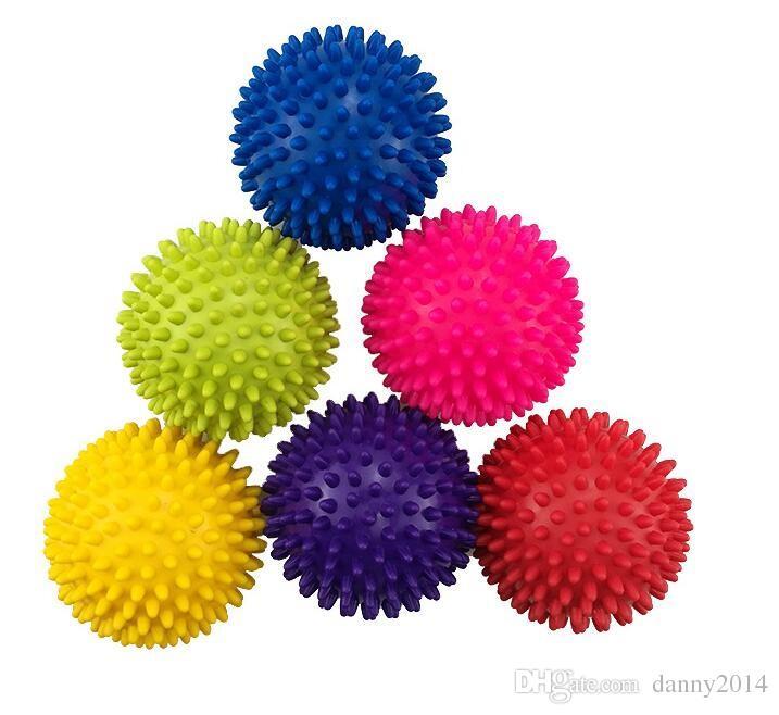 تدليك الكرة Spikey نقطة تدليك الكرة اليوغا كرات الزناد بكرة القدم بممارسة الرصيد نقطة تدليك الجسم معدات اللياقة البدنية للأطفال Audlt