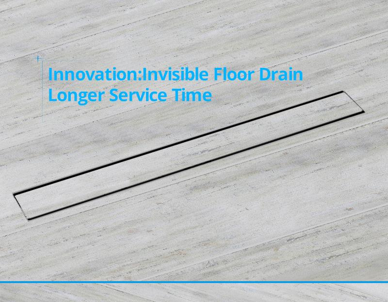 hm Odor-resistant Floor Drain Cover 60 80 100 120cm Rectangle SUS304 Stainless Steel Shower Grate Invisible Long Floor Drain (3)