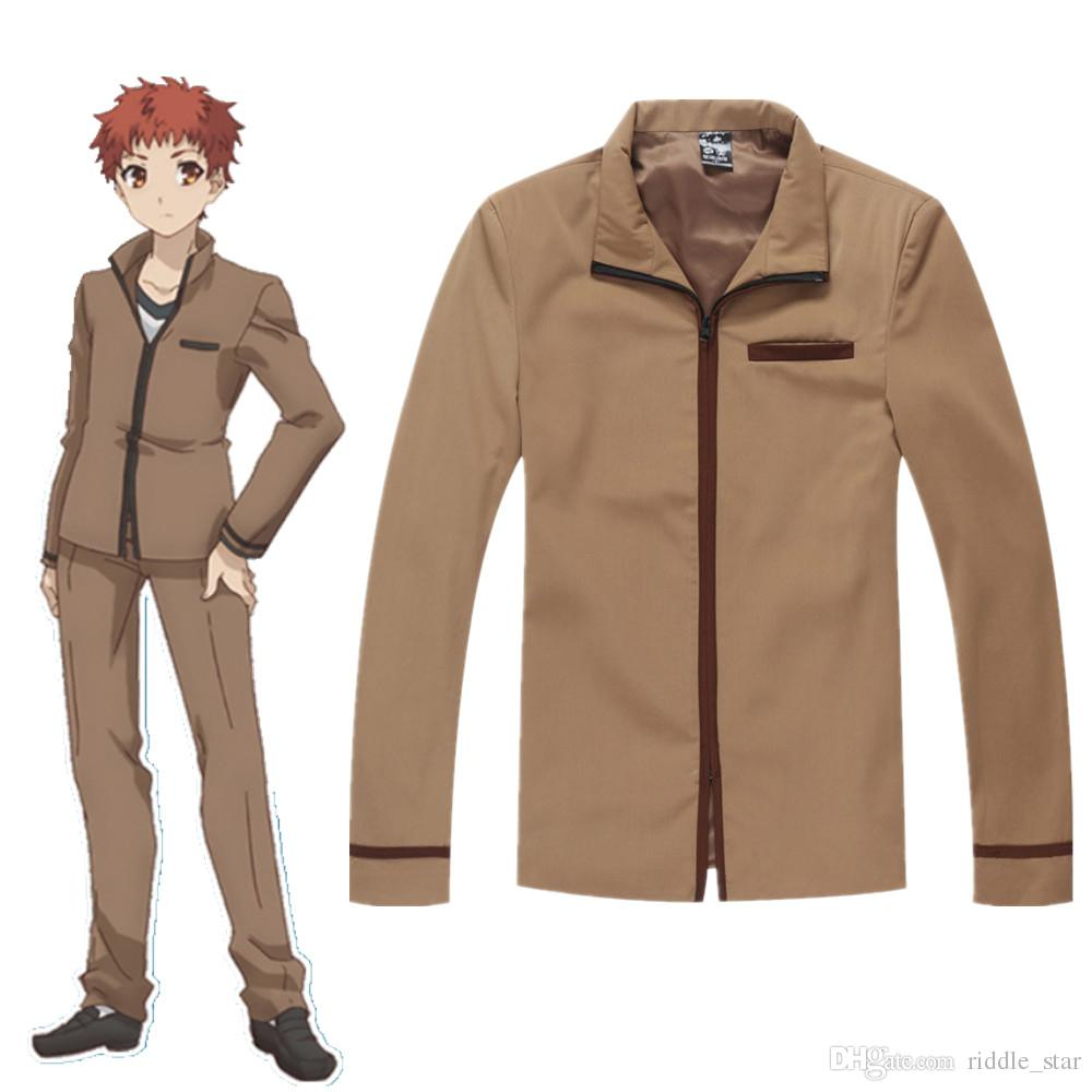 El tamaño asiático chaqueta Japón Anime Fate Stay Night Emiya Shirou unisex cosplay manga larga con capucha Escudo