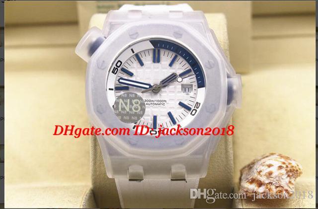 Relojes de pulsera de lujo de caja original Diver St.OO.A051CA.01 5 Pulsera de goma de color Relojes mecánicos automáticos para hombres de calidad superior