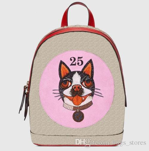 New 2018 Backpack Women Leather Fashion Dog Bags Brand Designer Back Pack g Bag Backpacks Ladies Green Pink Black Brown for Sale