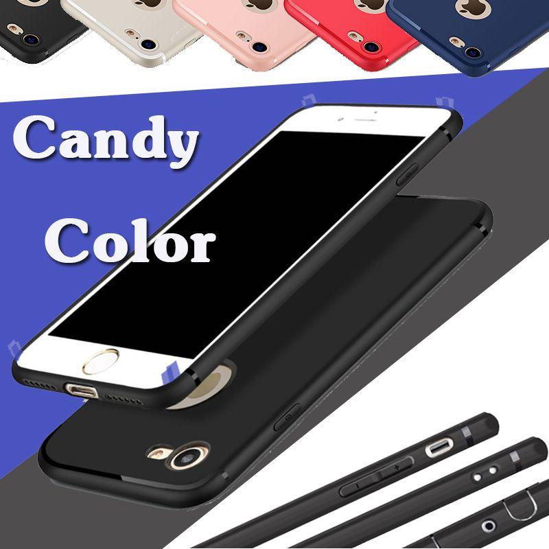 Candy Color Solid Shockproofoodporny Miękki TPU Gumowy Żel Silikonowy Matowy Matowy Ochrony Pokrywa Obudowa dla iPhone 11 Pro Max XS XR X 8 7 6 6S PLUS