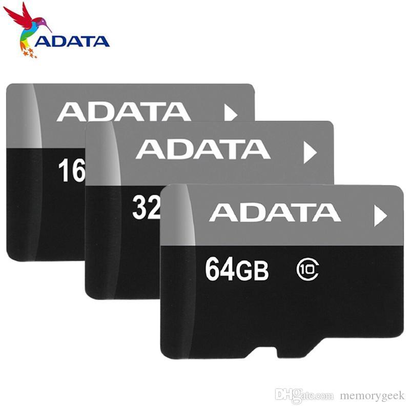 무료 SD 어댑터 클리어 케이스 패키지와 ADATA 100 % 리얼 전체 용량 정품 2기가바이트 4기가바이트 8기가바이트 16기가바이트 32기가바이트 64기가바이트 128기가바이트 TF 플래시 메모리 카드