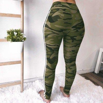 Frauen Yoga Hosen Leggings Camouflage Hosen Fitness Yuga Slim Hohe Taille Hosen Frauen Sportswear Workout Hose Sexy Heißer Verkauf