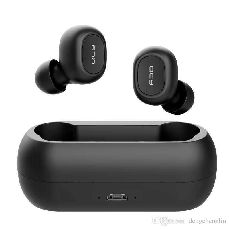 v5.0 Earbuds QCY T1C Bluetooth с 380mAh Зарядки Дела Пота доказательства HD Кристалл звук бас стерео мини беспроводных наушников