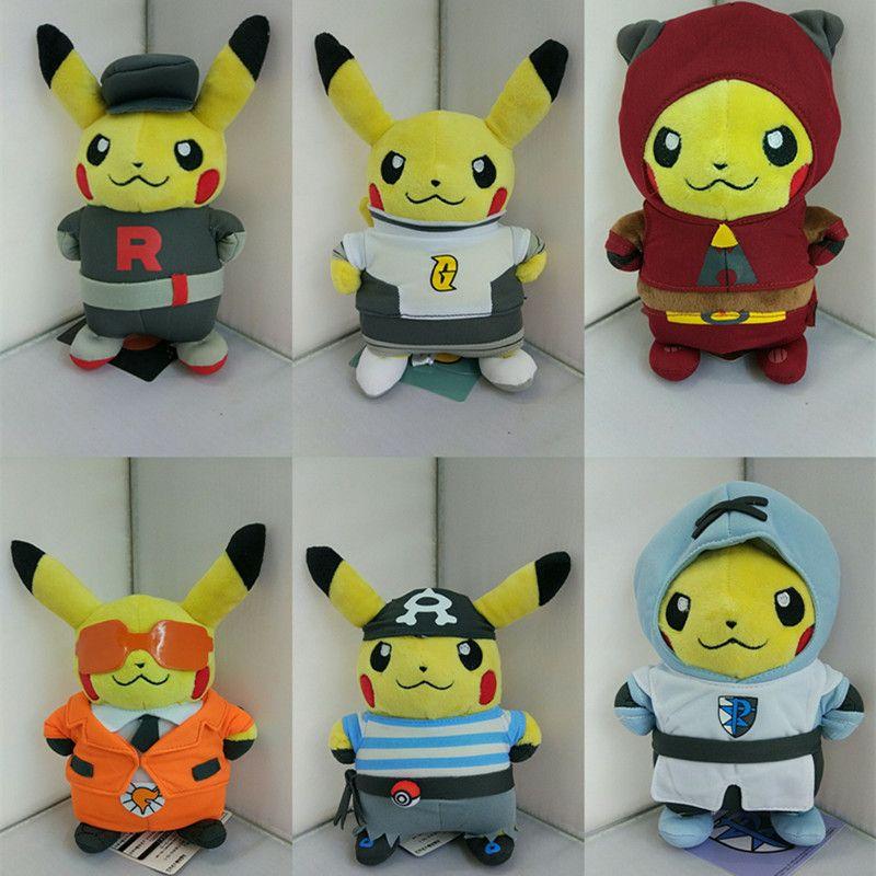 6 Style Kawaii Plush Toys Cosplay Team Rocket Stuffed Plush Animals Doll Kids Baby Best Toys for Children 20cm