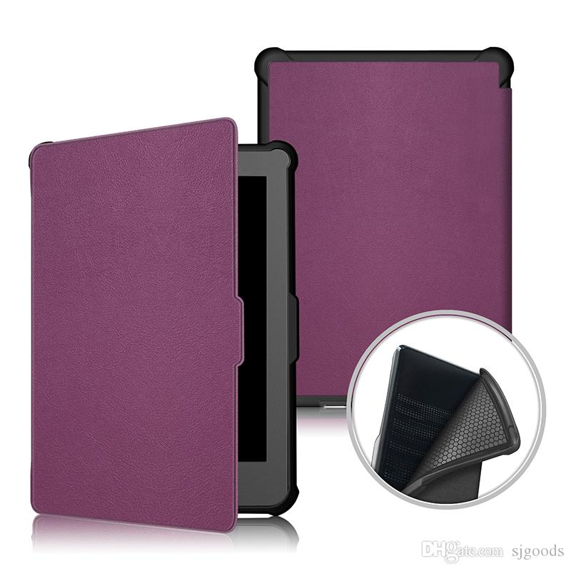 Ultra Slim Smart Cover PU Leather Case inner TPU for Tablet Kobo Clara HD 2018 6.0 Inch+Stylus