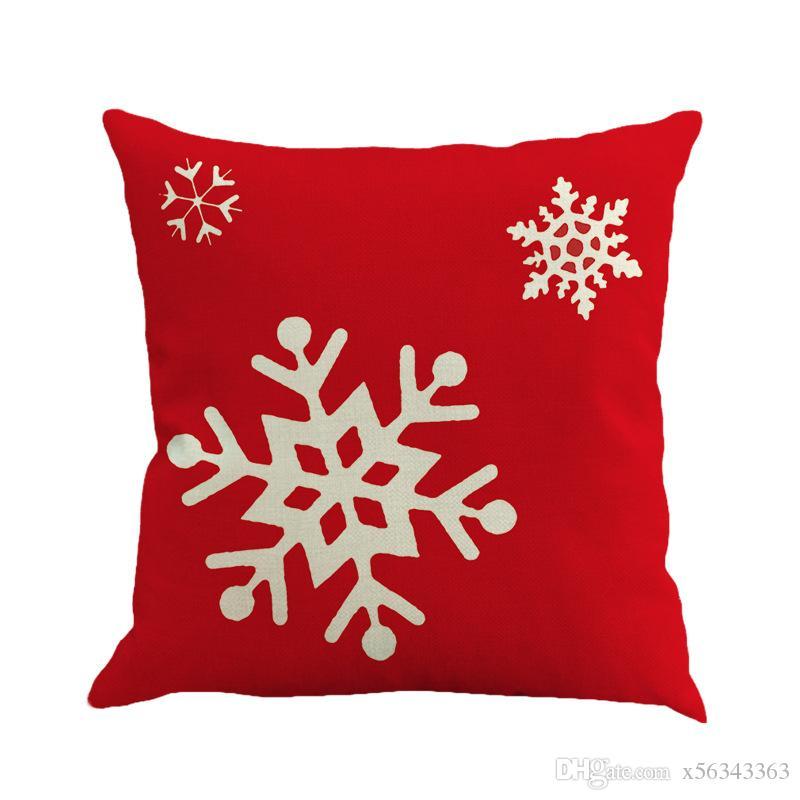 حالات عيد سادة القضية الرئيسية سرير عيد الميلاد القطن الكتان الغبار القابل للإزالة قابل للغسل وسادة هدية عيد الميلاد ديكور المنزل المخدة XX