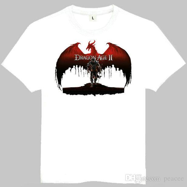 Dragon age t shirt Nice short sleeve gown Origins game tees Leisure clothing Quality cotton fabric Tshirt