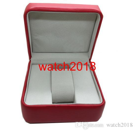 Proveedor de la fábrica ENVÍO GRATIS 2018 CAJA de RELOJ de Lujo Nueva caja Cuadrada Roja Para Relojes Etiquetas y Papeles de Tarjetas en Inglés
