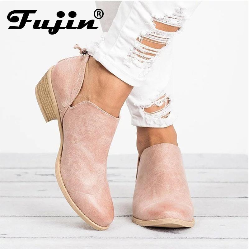 Fujin İlkbahar Sonbahar Kadın Kelebek düğüm Çizmeler Fermuar Yüksek Topuklu Sivri Burun Ayakkabı Kadın Ayak Bileği Çizmeler Kadın Kış