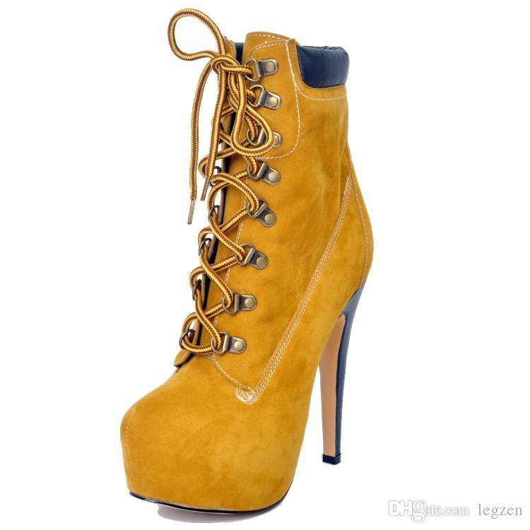 Legzen Super Fashion женские ботильоны с круглым носком на высоких каблуках Bootie вино красное желтое обувь женщина плюс размер