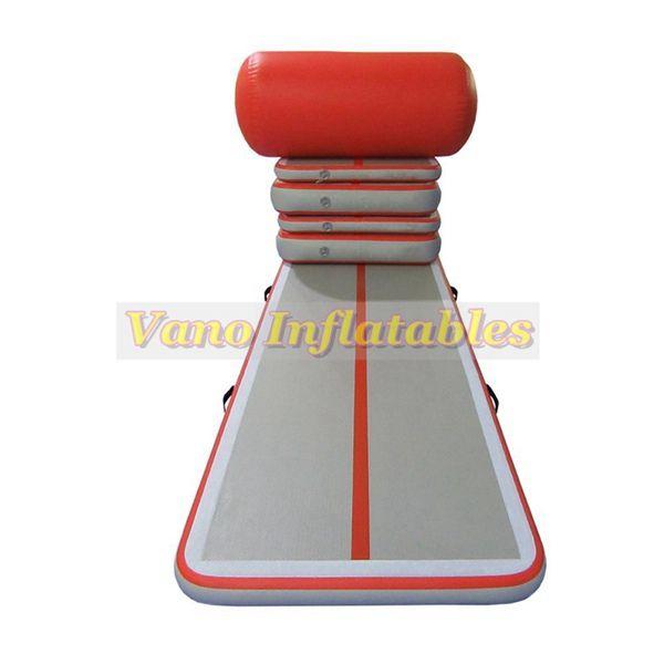 Mat da salto gonfiabile 3x1x0.1m Un set di tappetino pista dell'aria in vendita Allenamento della palestra (4 track + 1 rullo + 1 pompa) Spedizione gratuita