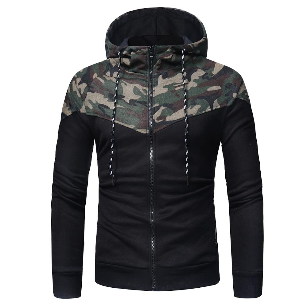 2018 New Fashion Felpe con cappuccio uomo Felpa con cappuccio mimetico Malemen'S Felpa con cappuccio sportivo con cappuccio Hip Hop Autunno Inverno