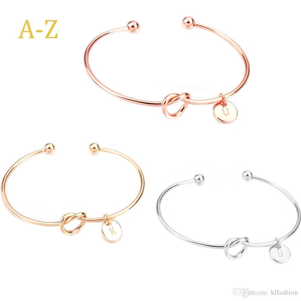 Оригинальный дизайн первоначальный 26 букв Шарм узел браслет творческий алфавит дикие подруги любовник браслет невесты открытие браслет ювелирные изделия