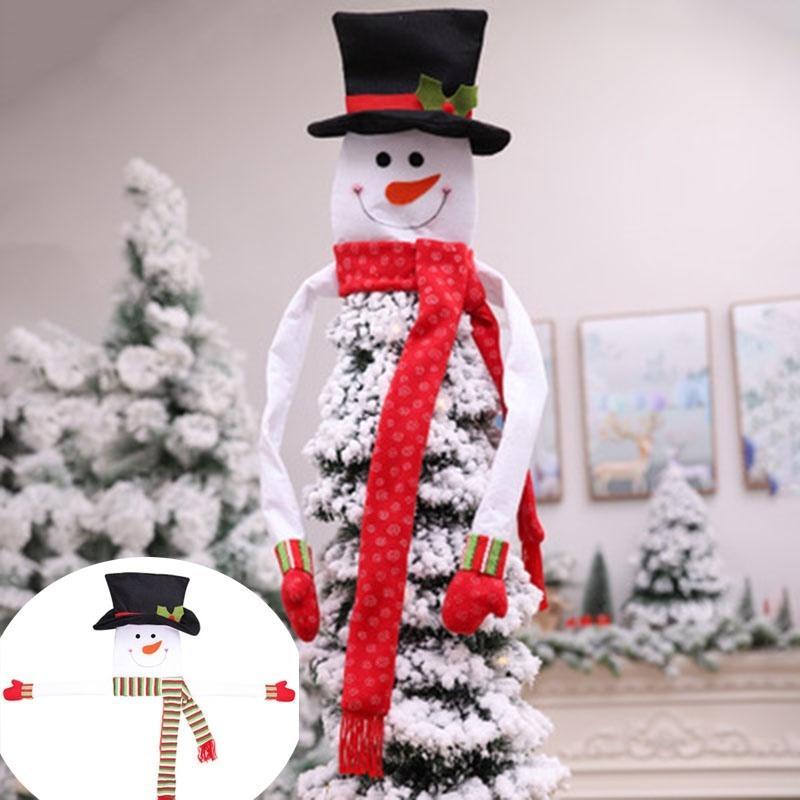 Al por mayor de 1 Conjunto del árbol de Navidad del muñeco de nieve Mejor Decoración no tejida caliente Abrazar árbol en forma de ornamento para la Navidad Año Nuevo Decoración