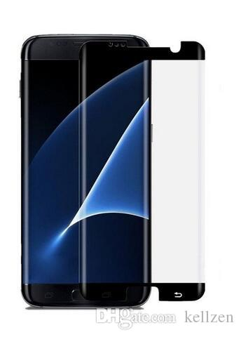 3D Curved Tempered Glass for Samsung S7edge S8 S8plus HD Cell Phone Screen Protectors Front Anti-Scratch Asahi Glass