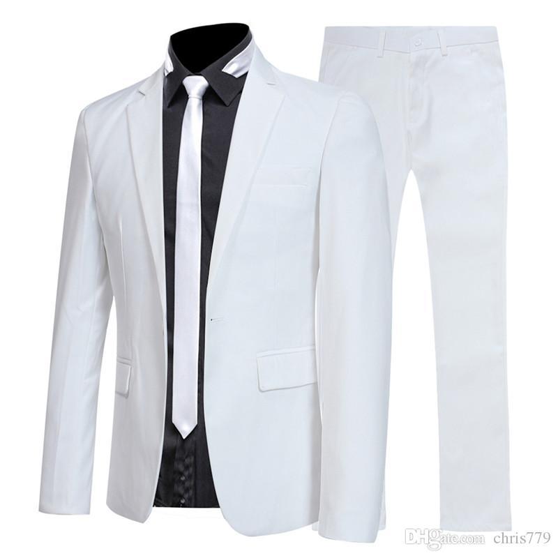 terno terno de duas peças novas dos homens de moda (casaco + calças) noivo do casamento / terno business casual dos homens vestido groomsman.