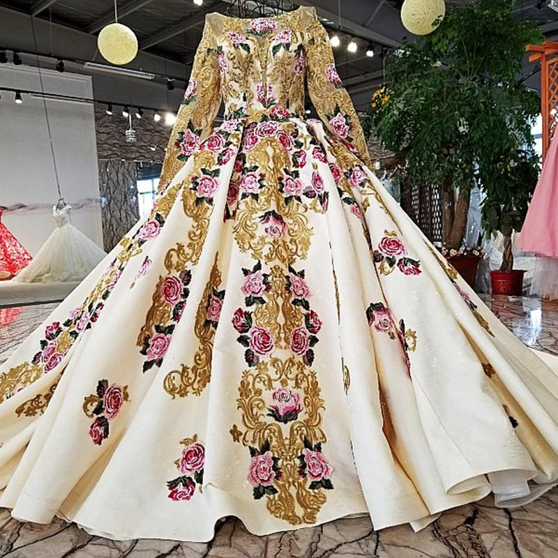 2019 Heavy Beaded New Evening Dresses Long Sleeve Latest Gowns Designs Formal Evening Gown For Elegant Woman Real Photos Prom Dresses