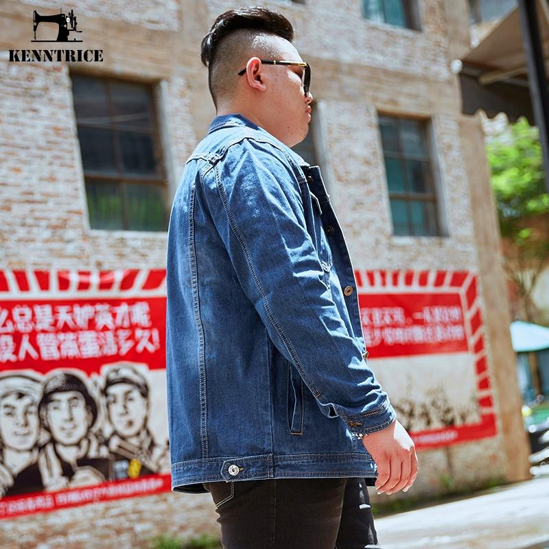 KENNTRICE Ceketler Erkekler Denim Kot Ceket Erkek Koyu Mavi Hiphop 5xl 6xl 7xl 8xl Askeri Erkek Kış Ceket Büyük Boy Erkekler 'S Temel