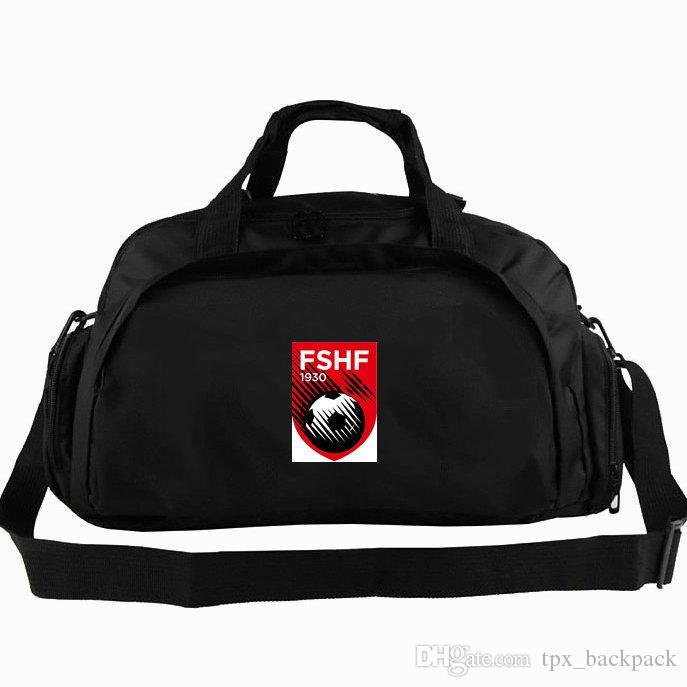Borsone FSHF Albania National uomini squadra tote Calcio zaino Calcio 2 way use bagaglio Sport spalla borsone Badge sling pack