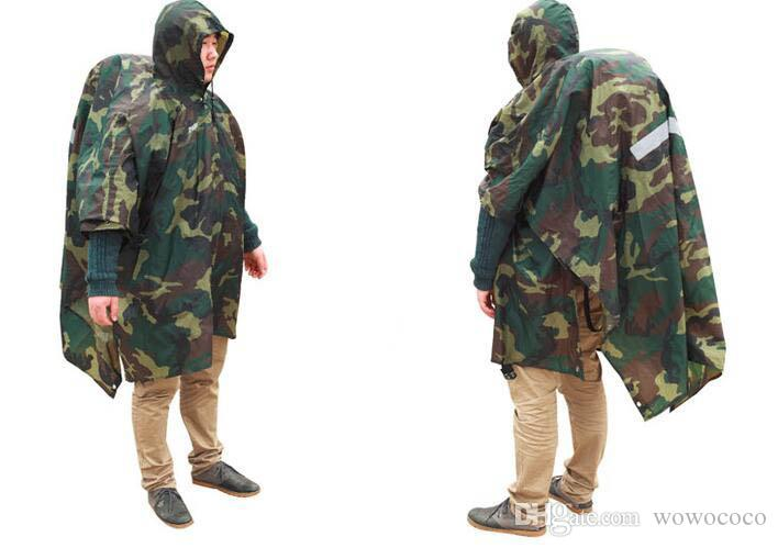 Multifunctional Camouflage Rain Coat Outdooors Travel Rain Coat Cycling Camouflage Poncho X024