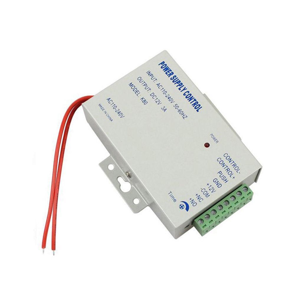 Electric Door Lock Power Supply AC 110-240V Dedicated Power box Access Control