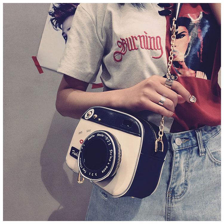 Small Bag For Women Shoulder Bag Fashion Retro Camera Chain Slant Crossbody Handbags High Quality