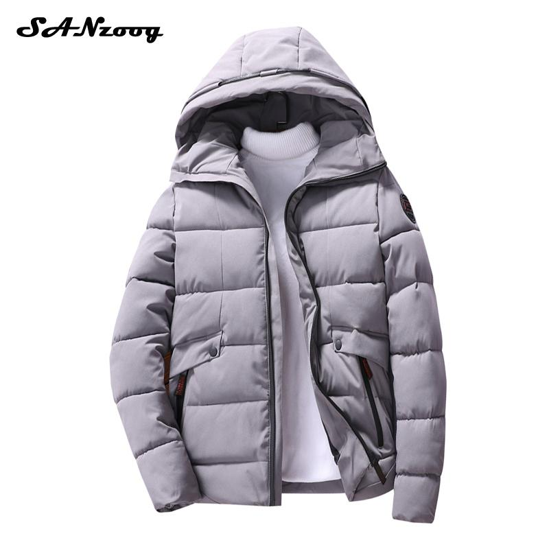 M-4XL Plus Size Casual Hoodies Cotton Coats Mens Thick Solid Parkas Slim Hoodie Clothing