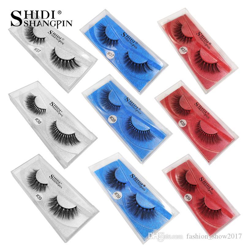 Shidishangpin 1 Para Norek Rzęsy Naturalne Długie 3D Mink rzęsy Fałszywe Rzęsy Fałszywe Rzęsy 3D Laszy Faux Cils
