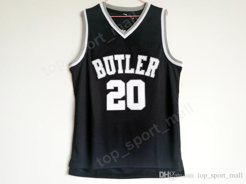 newest b0630 06275 2019 High Quality Gordon Hayward Butler Bulldogs Jerseys 20 Men Black Color  Basketball College Gordon Hayward Jersey Sport Uniform From ...