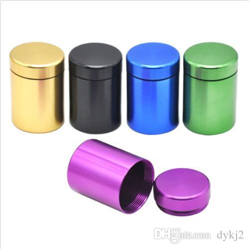Small Stash Jar Airtight Smell Proof Durable Multi-Use Metal Herb Container IJ