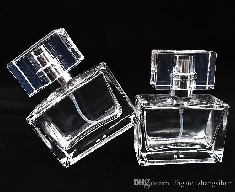Transparente Vidro Garrafa de Spray 30ml recarregáveis garrafa de perfume de viagem Perfume Atomizer Com DHL frete grátis