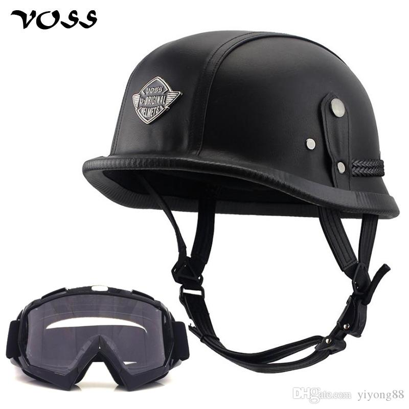 VOSS Motorcycle Helmet Motorcross Vintage Camouflage Helmets For Scooter Crash Casco Windproof Open face For Harley Riding