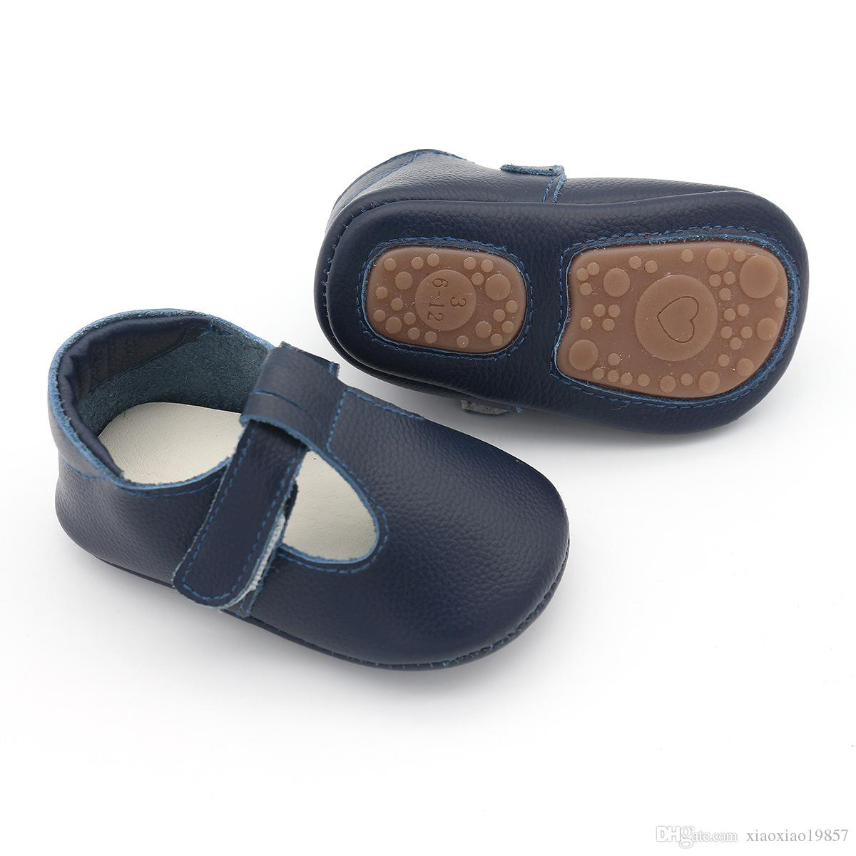 548a034dfcedf 2019 2018 T Bar Style Genuine Leather Baby Moccasins Shoes Hard Rubber Sole  Baby Shoes Newborn First Walker Infant Shoes From Xiaoxiao19857, &Price; |  ...